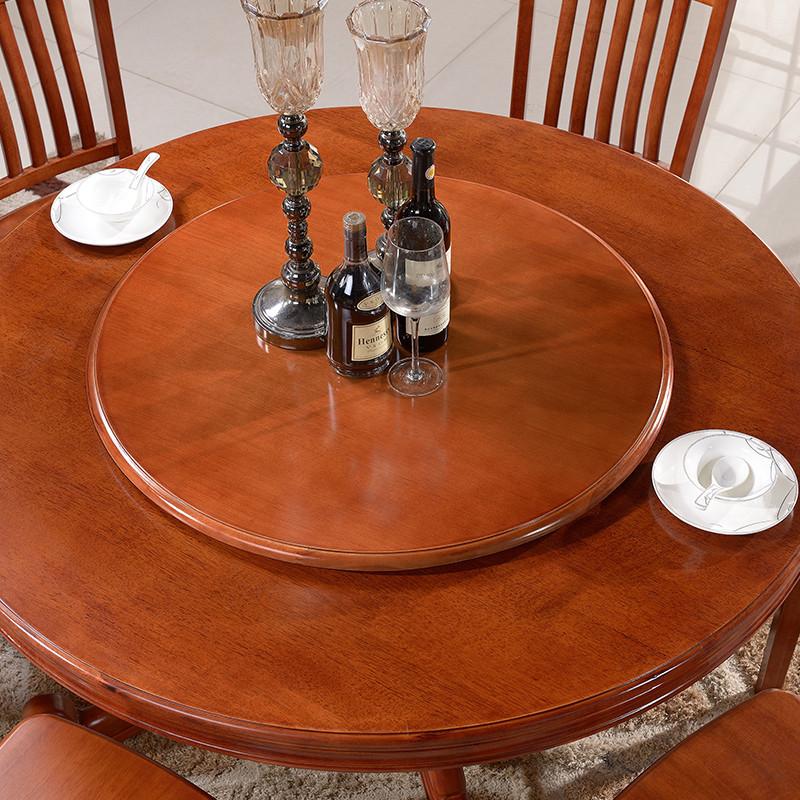 天成博源 实木餐桌转盘 圆桌转台 吃饭家用酒店旋转转盘