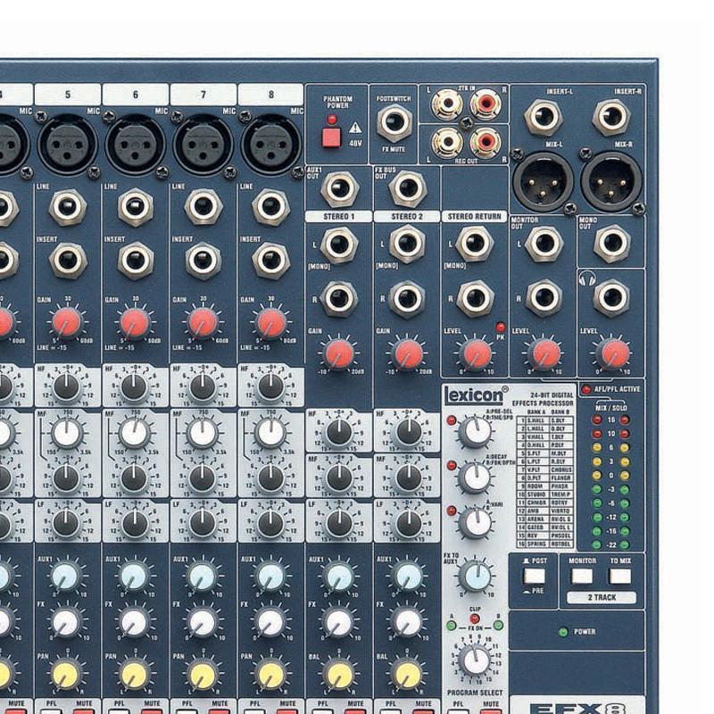 声艺efx8 效果调音台 soundcraft工程音响efx8【价格