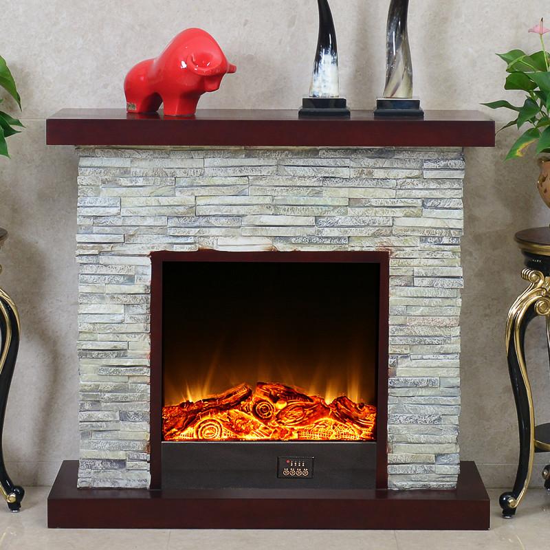 5米欧式美式仿石头壁炉装饰柜