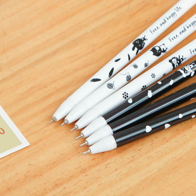 38/0.5mm晶蓝碳黑墨蓝中性笔水笔 学习办公用品文具