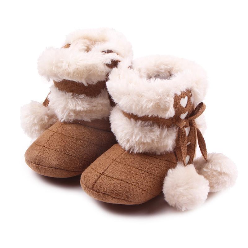 贝迪牛 秋冬超可爱小动物绒毛棉鞋婴儿软底防滑鞋学步