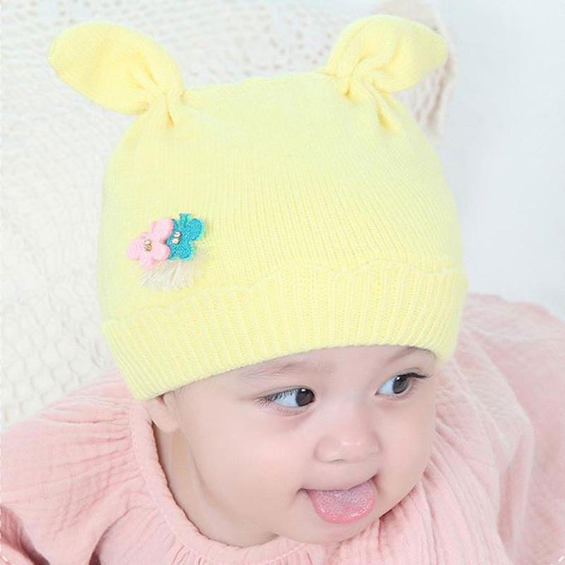 贝迪牛2017秋季新款新生儿帽子春秋冬0-3-6个月幼儿胎帽婴儿针织帽