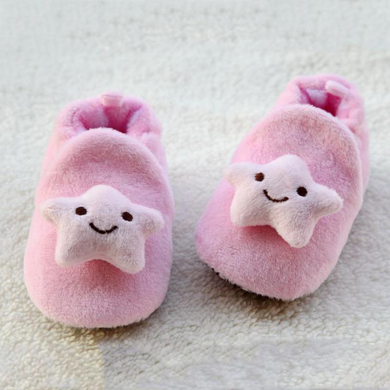 贝迪牛 秋冬超可爱小动物毛绒棉鞋婴儿软底防滑鞋学步