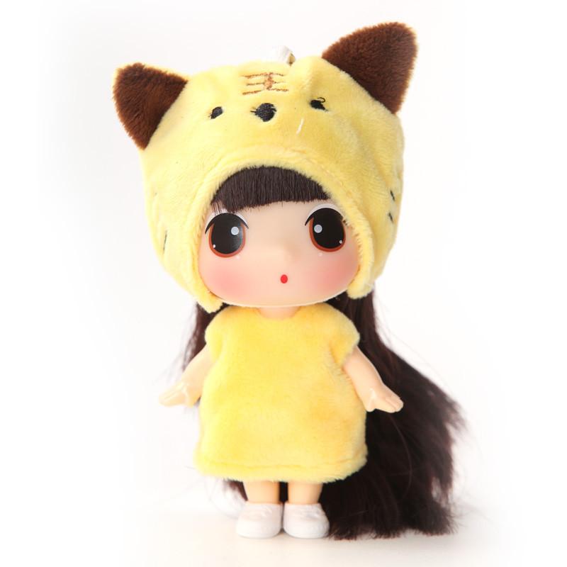 冬己正版韩国迷糊娃娃可爱萌儿童玩具迷你女孩玩具洋娃娃玩偶公仔 冬