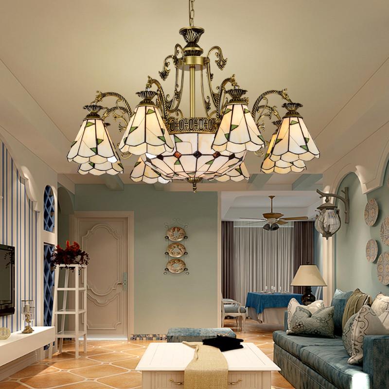臻承 美式吊灯客厅灯现代简欧卧室餐厅美式灯北欧复古铁艺欧式灯饰