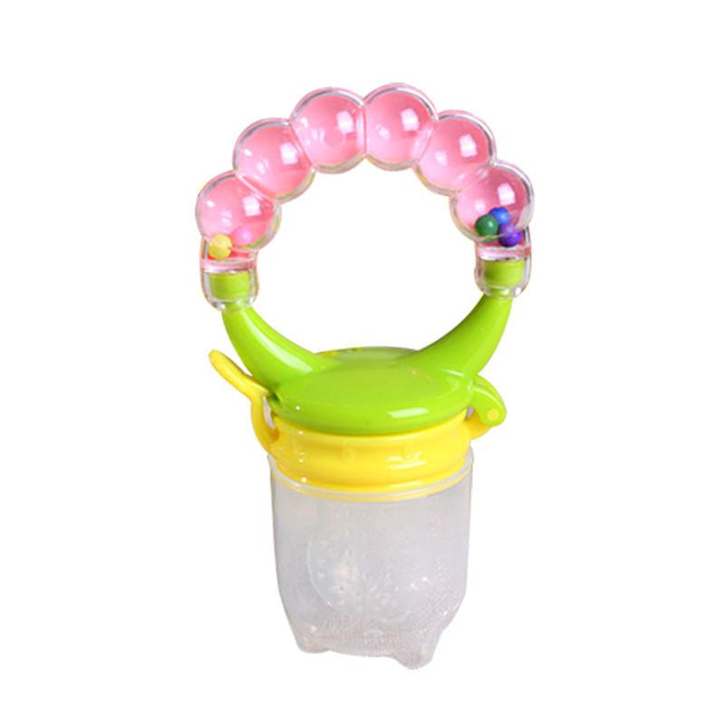 蔓葆宝宝辅食器工具儿童吃水果蔬菜奶嘴牙胶婴儿磨牙棒-m中号
