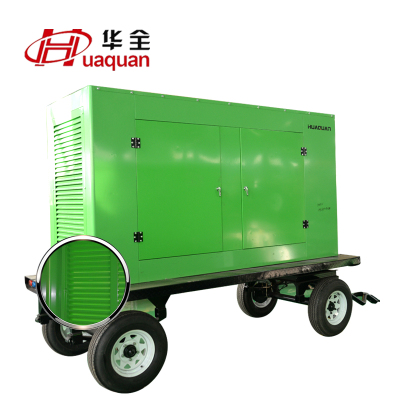 柴油机发电机组100kw 100千瓦潍柴道依茨移动拖车全自动发电机组