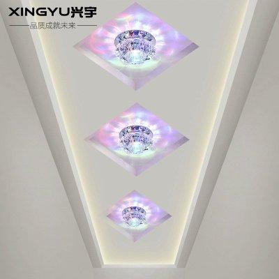 兴宇 过道灯走廊灯led水晶射灯 背景墙灯吊顶天花客厅