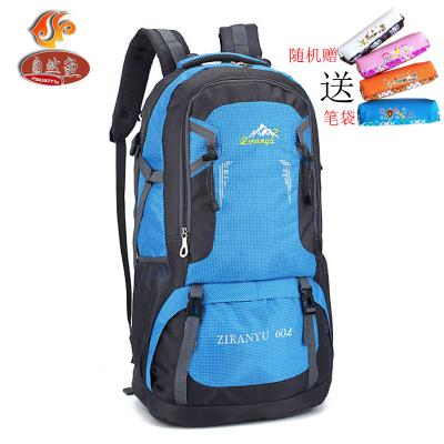 自然鱼(ZIRANYU)登山背包新款大容量60L户外包防水旅行运动男女双肩背包