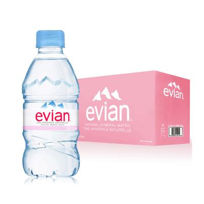 依云(Evian) 天然礦泉水 330ml*24瓶 法國進口 小瓶便攜