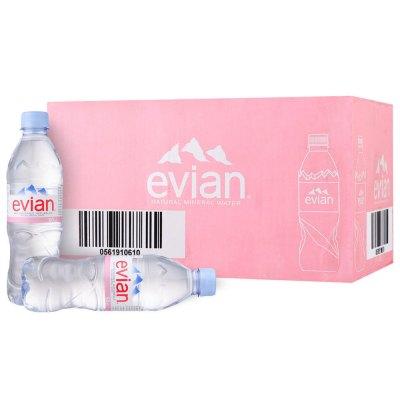 依云(Evian) 天然矿泉水 500ml*24瓶 整箱装 法国进口