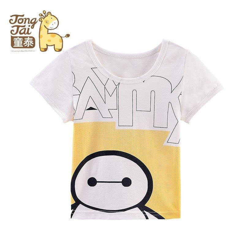 童泰夏季迪士尼系列新生婴儿男女宝宝大白卡通图案半袖套头衫t恤1-3岁