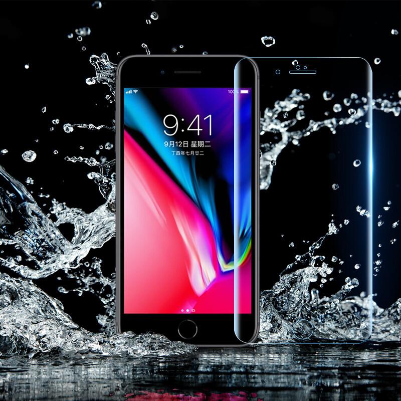 翎听 苹果8钢化膜/水凝软膜全屏覆盖手机保护贴膜适用