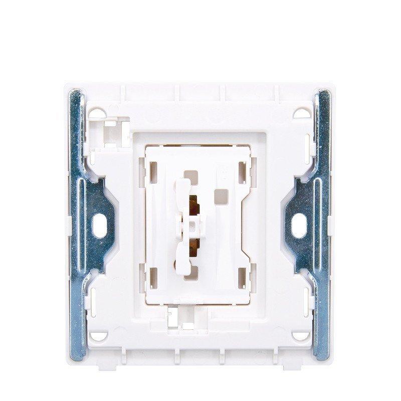 正泰电工墙壁开关插座new2d象牙白大面板门铃开关16a钢架