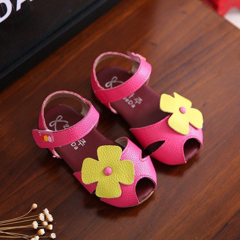 喜安贝 2016夏季新款儿童皮凉鞋女童韩版可爱公主鞋小