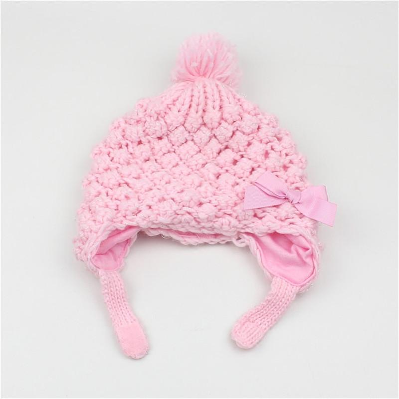 喜安贝 儿童帽子秋冬季女童公主帽婴儿帽小孩护耳帽女