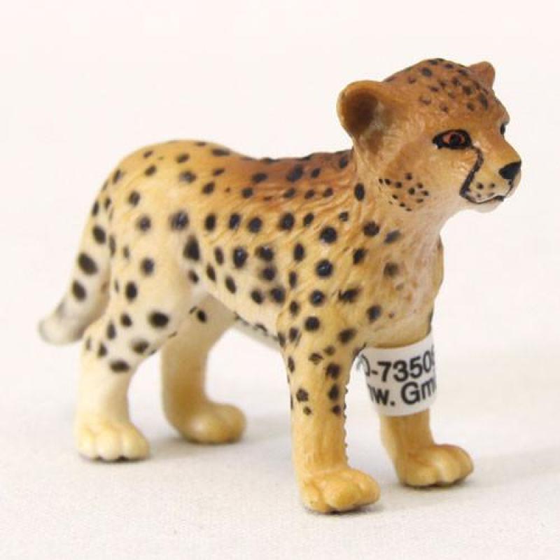 思乐schleich 仿真动物静态模型 s14327 猎豹幼崽