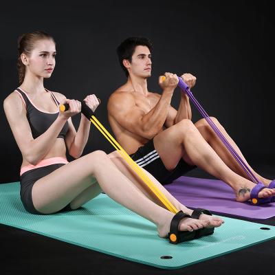 腳蹬拉力繩 仰臥起坐拉力器擴胸彈力繩健身器材家用男女減肚子瘦臂