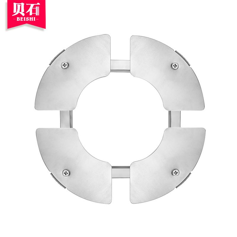 贝石立柜圆柱形空调底座架托不锈钢底座通用款支架 格力海尔美的