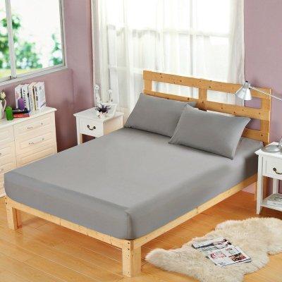 南极人(NanJiren)家纺 升级床笠床上用品单件简约纯色床笠单品 时尚单双人聚酯纤维床罩
