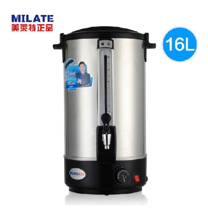商用电热开水桶 奶茶保温桶不锈钢开水器16l双层调温