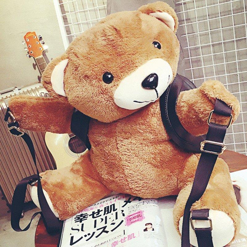 爱洛戈特ailuogete新款秋冬可爱小熊双肩背包韩版时尚