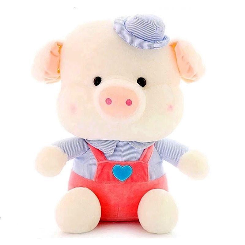 新款可爱情侣背带猪公仔毛绒玩具猪猪布娃娃