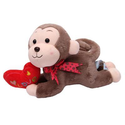 宝诚达 可爱love抱心趴趴猴公仔猴子毛绒玩具爱心小猴玩偶布娃娃节日