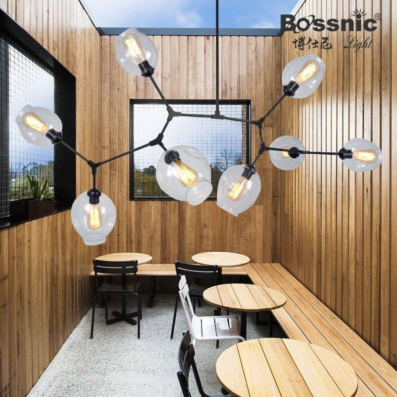 北欧创意艺术灯饰 餐厅服装店卧室客厅个性玻璃球不