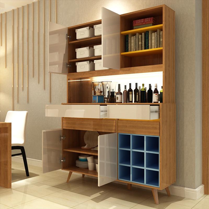 一米爱家具 现代简约酒柜 客厅餐边柜 北欧玻璃酒柜隔断柜储物柜