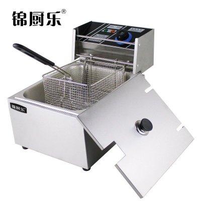 锦厨乐 商用电炸炉电炸锅单缸炸炉油炸机油炸锅10L加厚炸薯条机