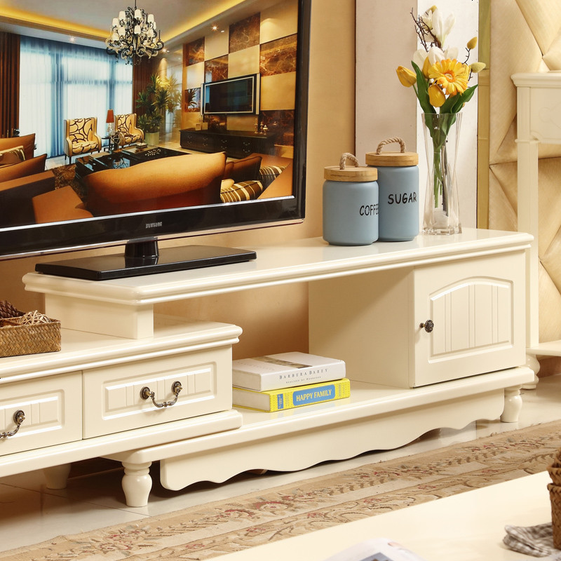 林中漫步 实木电视柜 韩式田园电视柜 可伸缩电视柜简欧茶几电图片