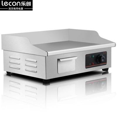 lecon/乐创 818台湾手抓饼机器 电扒炉商用 铁板鱿鱼机器铜锣烧机铁板烧设备