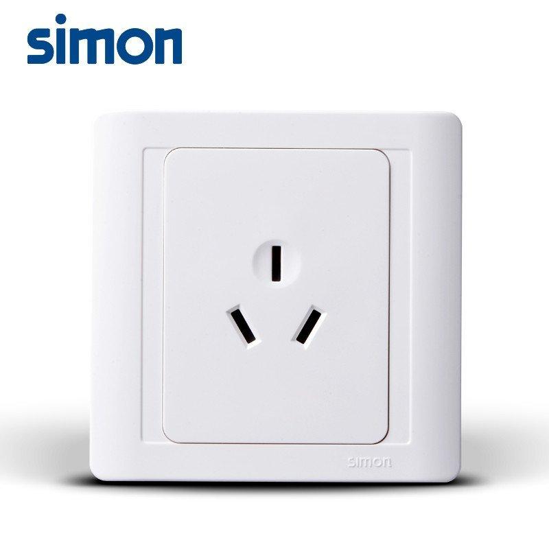 西蒙正品开关插座面板55系列10a三孔插座n51081