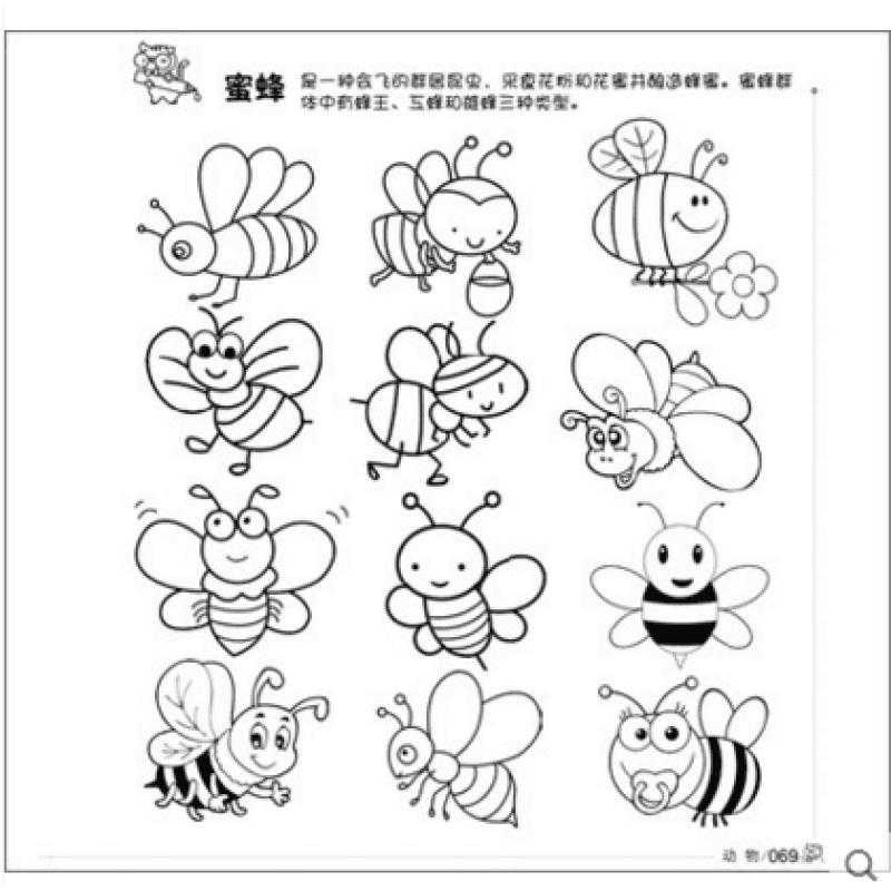 幼儿园手绘教程教材书幼儿小学生启蒙绘画画的涂色美术培训3-6--9-12