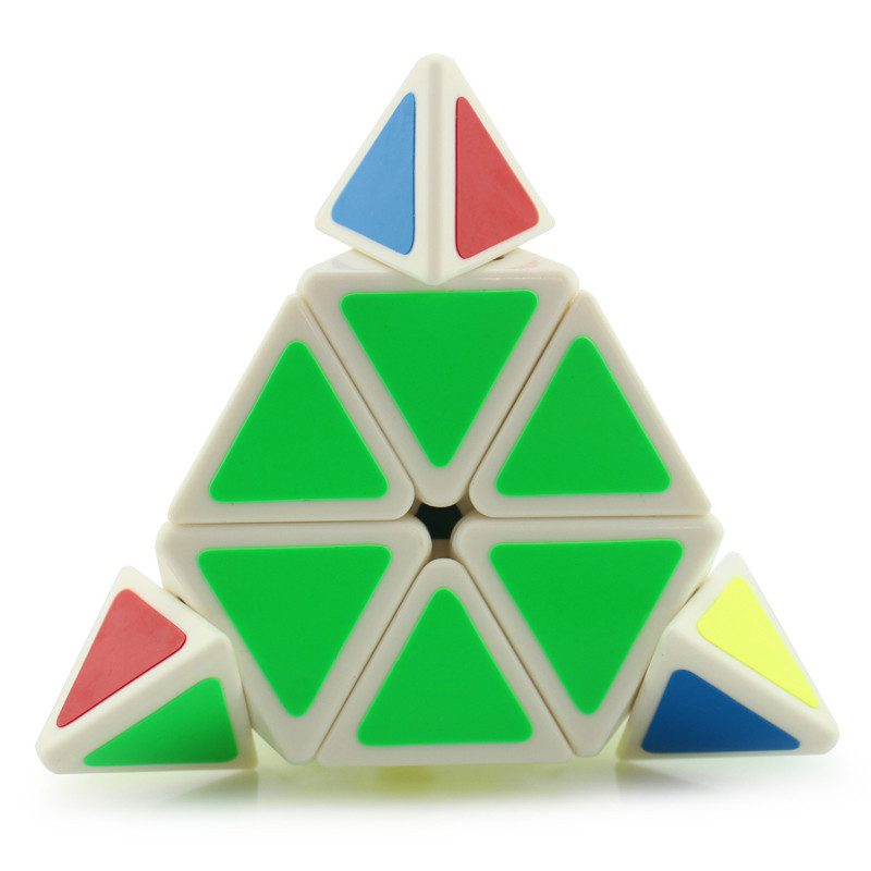 永骏魔域魔方金字塔异形魔方三角形专业速拧比赛魔方儿童益智玩具(白