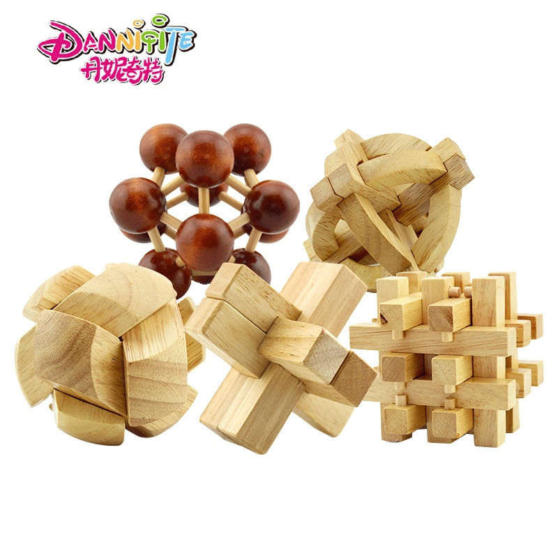 丹妮奇特孔明锁六根鲁班锁6根古典益智玩具套装早教休闲