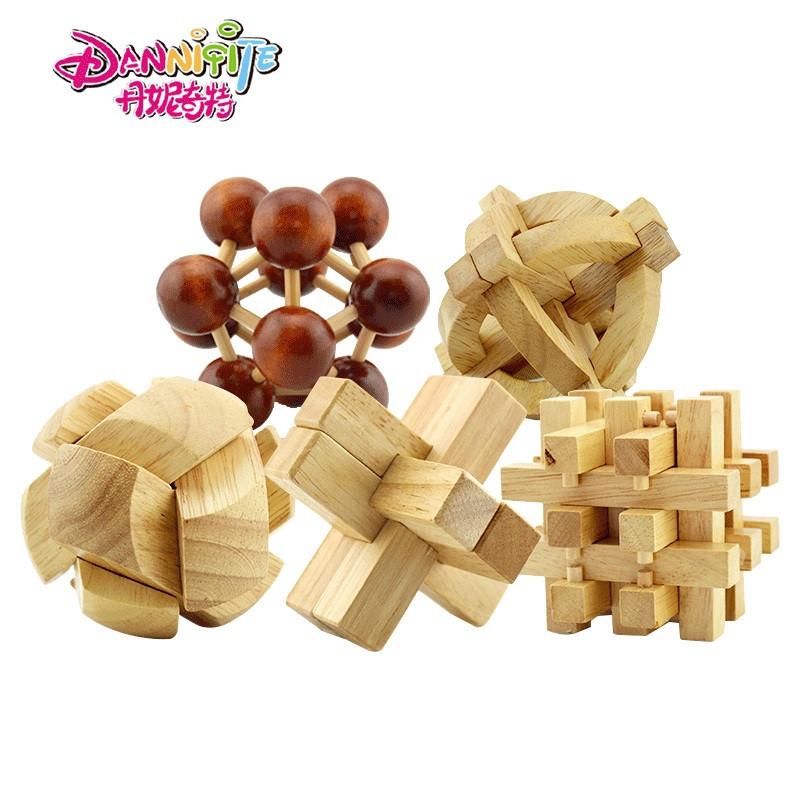 丹妮奇特孔明锁六根鲁班锁6根古典益智玩具套装早教休闲(孔明球)