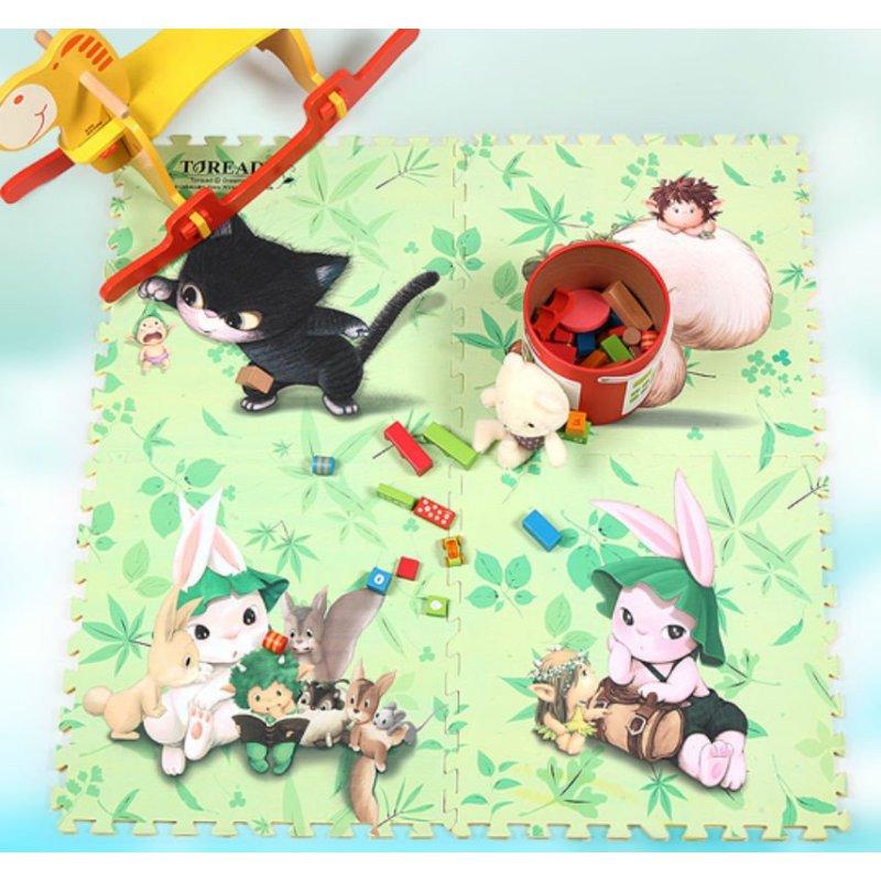星期八韩国多丽卡通儿童拼图泡沫垫子拼接宝宝爬行环保地垫加厚(玩耍4