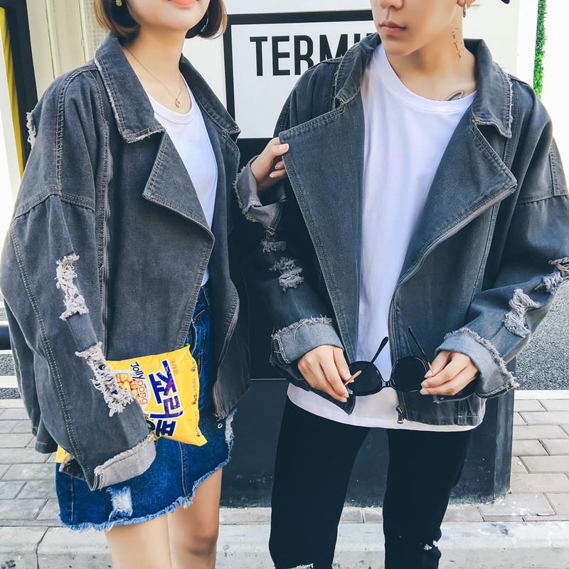 幸福时光男士牛仔外套男秋季2017新款韩版潮流修身帅气学生夹克bf情侣图片