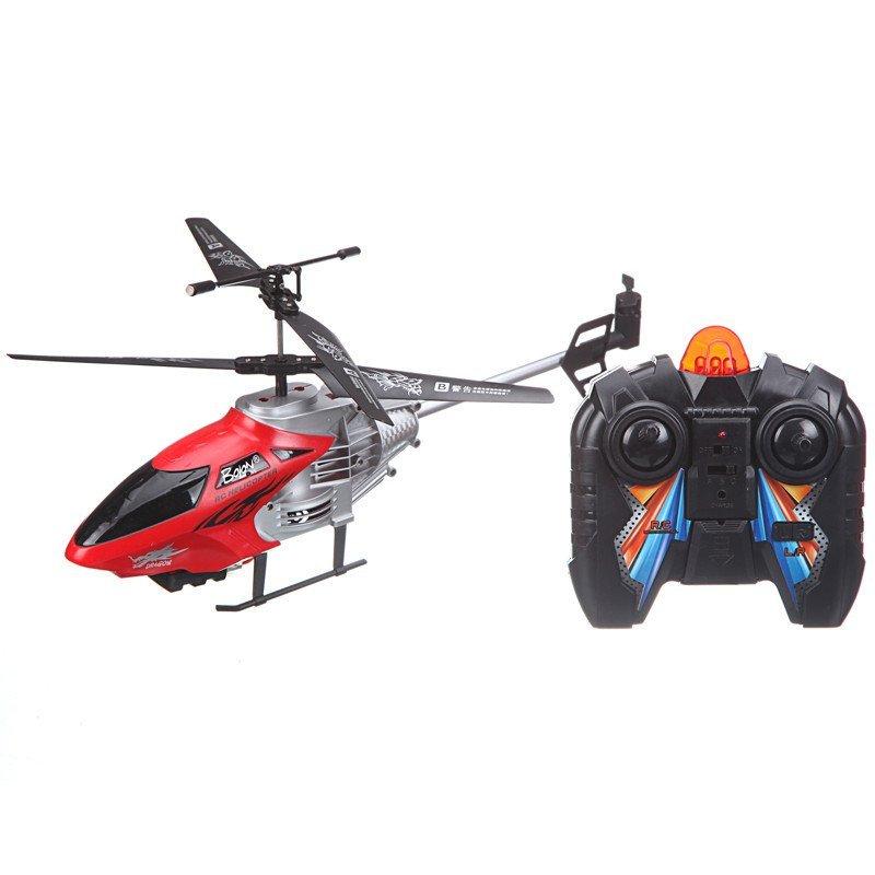 暴龙儿童玩具遥控飞机3.5通红色k-938t
