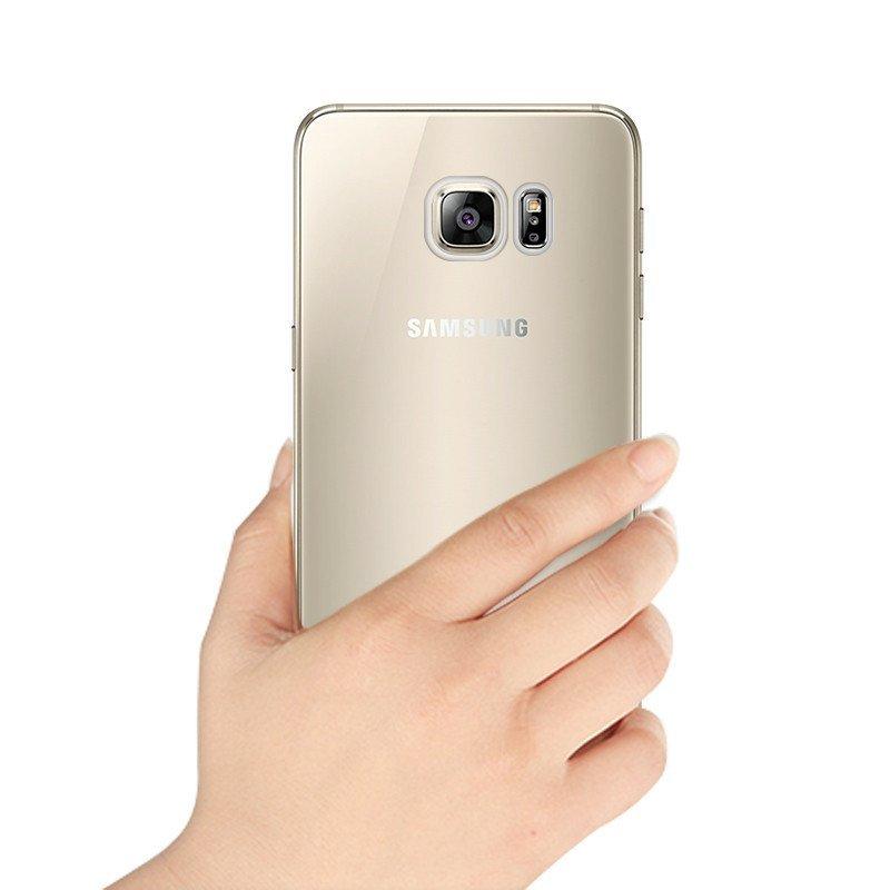 逸美达 三星s7edge手机壳边框g9350保险杠保护套外壳s7透明硅胶边框