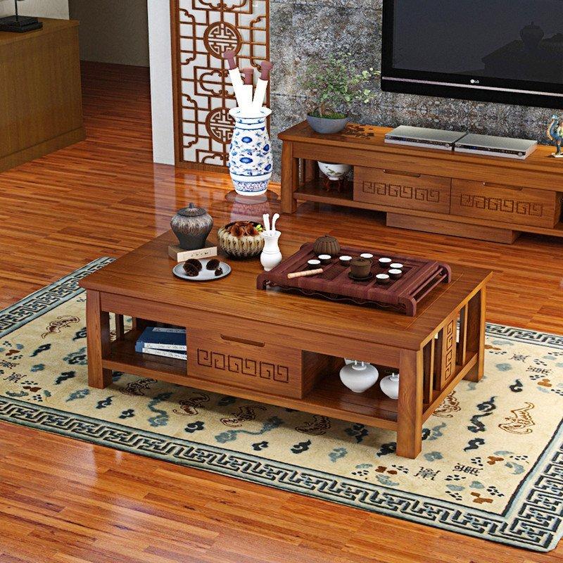 三惠利家居 实木茶几中式客厅实木茶几现代中式客厅水曲柳实木茶几c19