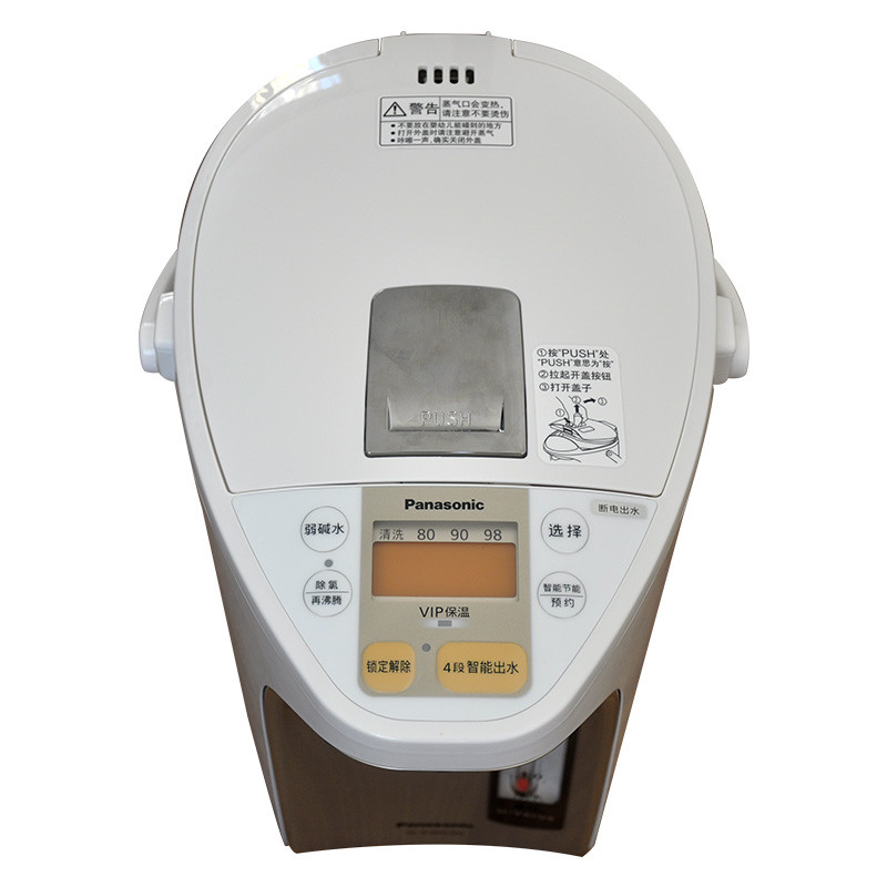 松下电热水瓶nc-sc4000-wn热水壶家用备长炭保温可预约4l 断电出水