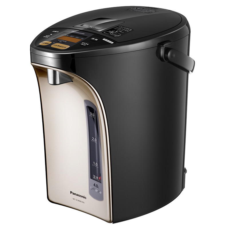 松下电热水瓶nc-sc4000-kn热水壶家用备长炭保温可预约4l 断电出水
