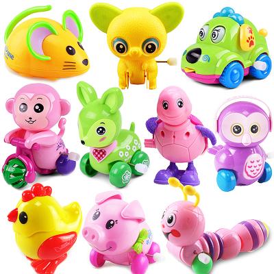 儿童发条小玩具发条小动物上链上弦会动婴儿宝宝1-3岁益智速翔玩具 10件不同款式随机