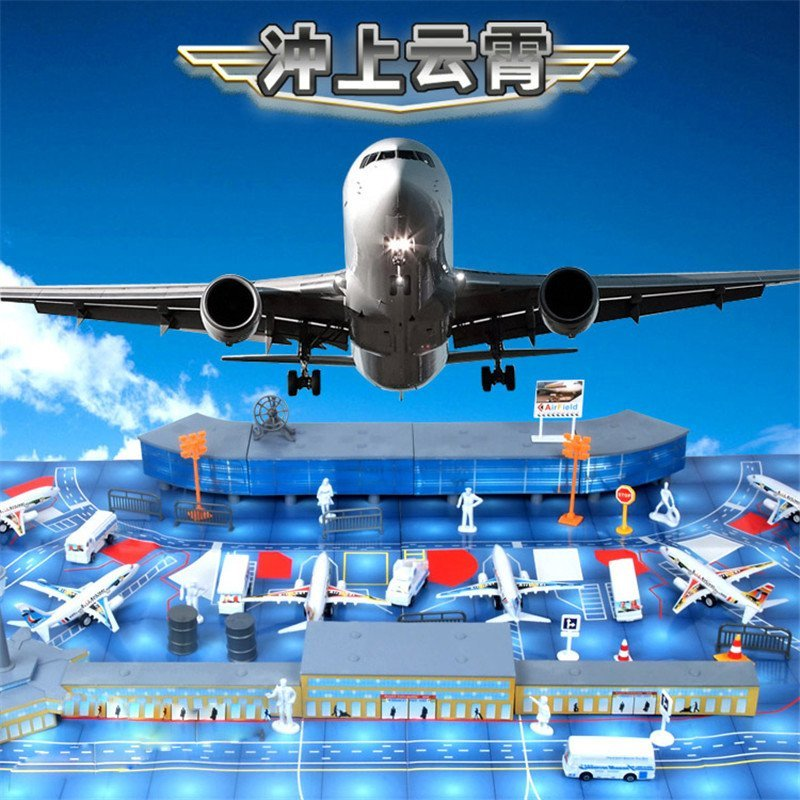 飞机场玩具模型场景200配件 仿真客机机场战斗机飞机模型