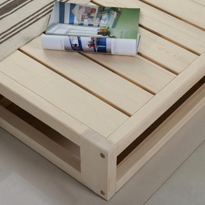 诚美家具 实木床垫 木板床榻榻米床 松木硬席梦思 硬床板排骨架 带套