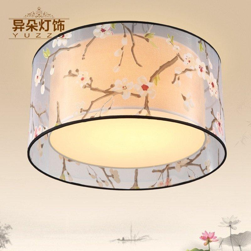 异朵吸顶灯客厅灯具 现代新中式灯简约圆形卧室餐厅灯图片