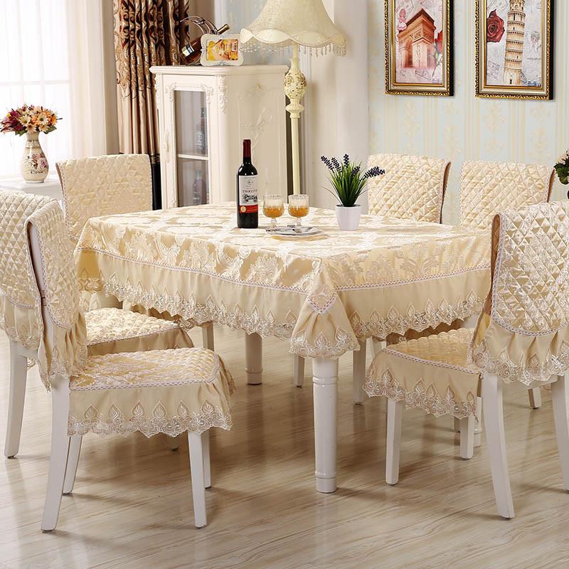 六月荷 欧式餐椅垫套装椅子套餐桌布茶几布桌套椅垫坐垫套套装图片